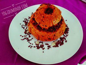 Gâteau vegan sans gluten noisettes, pépites de chocolat, cranberries